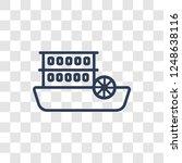 Paddlewheeler Icon. Trendy...