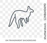 kangaroo icon. trendy flat... | Shutterstock .eps vector #1248640690