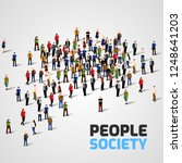 big people crowd on white... | Shutterstock .eps vector #1248641203