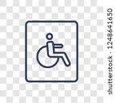 handicap sign icon. trendy...   Shutterstock .eps vector #1248641650