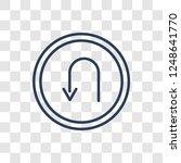 u turn sign icon. trendy linear ... | Shutterstock .eps vector #1248641770