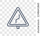 right reverse bend sign icon.... | Shutterstock .eps vector #1248641860