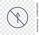 no straight sign icon. trendy... | Shutterstock .eps vector #1248641890