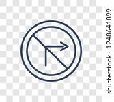 no turn right sign icon. trendy ... | Shutterstock .eps vector #1248641899