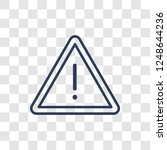 danger sign icon. trendy linear ... | Shutterstock .eps vector #1248644236