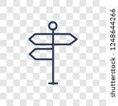 crossroad sign icon. trendy... | Shutterstock .eps vector #1248644266