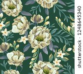 floral seamless pattern with... | Shutterstock .eps vector #1248645340