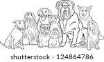 black and white cartoon...   Shutterstock . vector #124864786