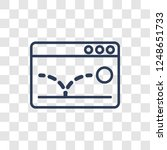 bounce rate icon. trendy linear ... | Shutterstock .eps vector #1248651733