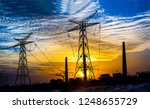 high voltage power line sunset... | Shutterstock . vector #1248655729