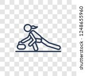 curling icon. trendy linear... | Shutterstock .eps vector #1248655960