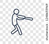 cricket icon. trendy linear... | Shutterstock .eps vector #1248655969