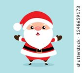 christmas greeting card with... | Shutterstock .eps vector #1248659173