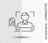 finger  fingerprint ... | Shutterstock .eps vector #1248665740