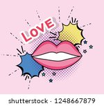 mouth patch with chat bubble... | Shutterstock .eps vector #1248667879