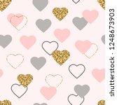 Heart Glitter Seamless Pattern...