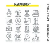 management icon set | Shutterstock .eps vector #1248674836