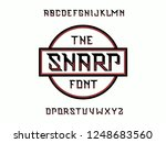 sharp font. vector alphabet...   Shutterstock .eps vector #1248683560