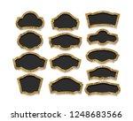 set of golden vintage frame on... | Shutterstock .eps vector #1248683566