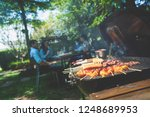 afternoon party  barbecue and... | Shutterstock . vector #1248689953