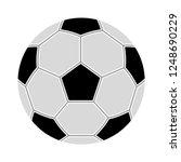 simple style football   soccer... | Shutterstock .eps vector #1248690229