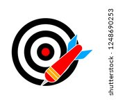 target with arrow icon.... | Shutterstock .eps vector #1248690253