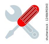 vector repair tool symbol  ... | Shutterstock .eps vector #1248690343