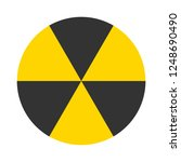 vector nuclear radiation icon.... | Shutterstock .eps vector #1248690490