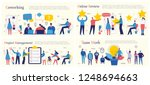 set of vector concept... | Shutterstock .eps vector #1248694663