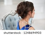 beauty portrait of a woman with ... | Shutterstock . vector #1248694903