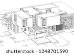 3d rendering sketch of modern... | Shutterstock . vector #1248701590
