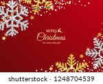 christmas background with... | Shutterstock .eps vector #1248704539