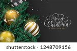 merry christmas happy new year... | Shutterstock .eps vector #1248709156