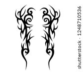 tribal tattoo art designs art. | Shutterstock .eps vector #1248710536