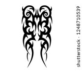 tribal tattoo art designs art. | Shutterstock .eps vector #1248710539
