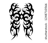 tribal tattoo sleeve art ink... | Shutterstock .eps vector #1248710566