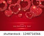 valentines day horizontal... | Shutterstock .eps vector #1248716566