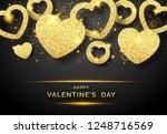 valentines day horizontal... | Shutterstock .eps vector #1248716569