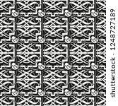 seamless geometric ornamental... | Shutterstock .eps vector #1248727189