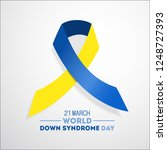 world down syndrome day. event...   Shutterstock . vector #1248727393