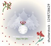 merry christmas and happy new... | Shutterstock .eps vector #1248728629
