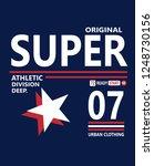 design typography sport  vector ... | Shutterstock .eps vector #1248730156