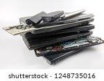 obsolete laptops isolated on... | Shutterstock . vector #1248735016