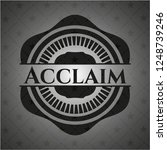 acclaim realistic dark emblem | Shutterstock .eps vector #1248739246