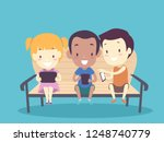 illustration of kids playing... | Shutterstock .eps vector #1248740779