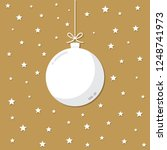 christmas night vector with... | Shutterstock .eps vector #1248741973