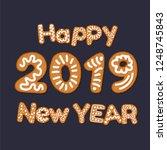 happy 2019 new year concept... | Shutterstock .eps vector #1248745843