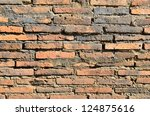 old brick wall in a background... | Shutterstock . vector #124875616