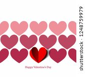 different shades  hearts  for... | Shutterstock .eps vector #1248759979