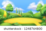 nature landscape. park. 3d... | Shutterstock .eps vector #1248764800